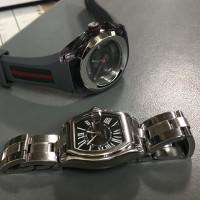 グッチとカルティエの紳士時計