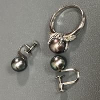 真珠イヤリングと指輪の買取品