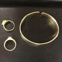 お売り頂いた18金のブレスレットと指輪