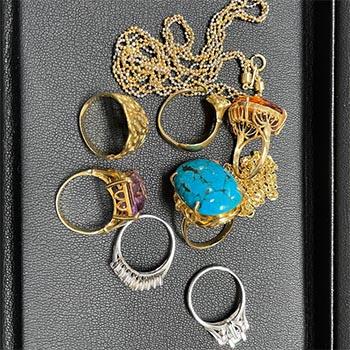 リング、ネックレス等貴金属9点の買取品