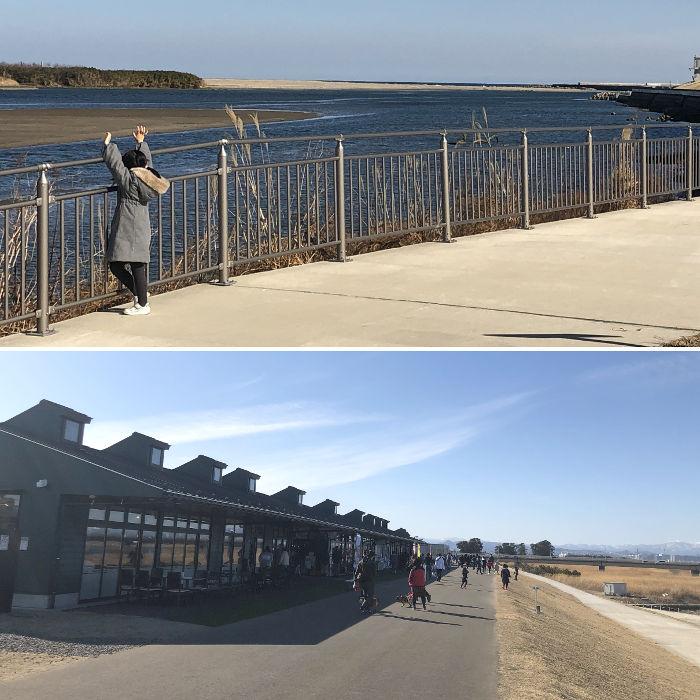 新しくできた堤防からの風景