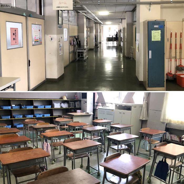 静粛な学校の雰囲気