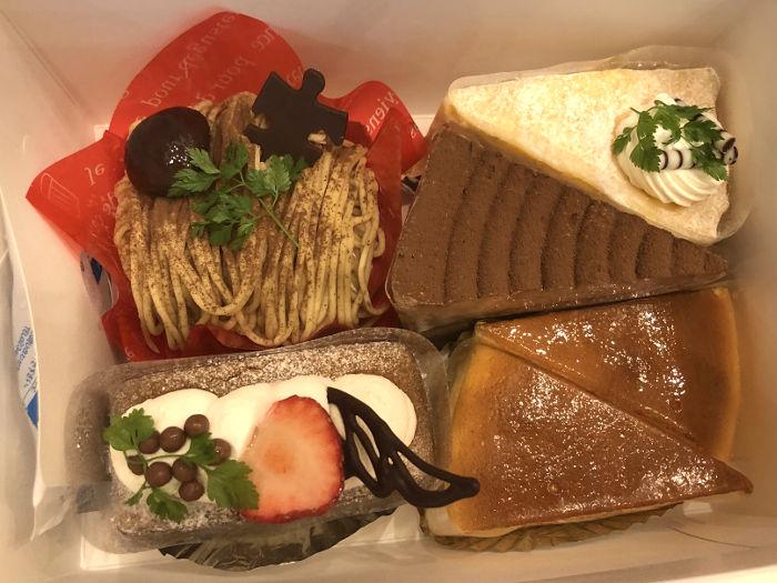 食後のカットケーキ