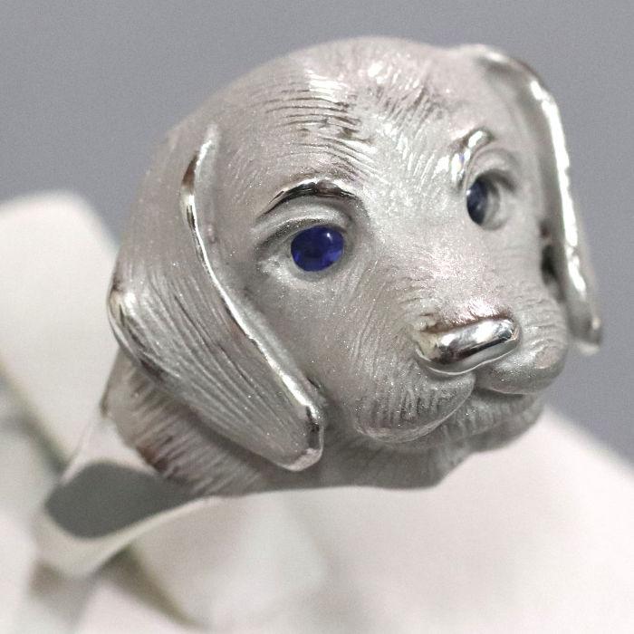 可愛い犬のモチーフリングその1