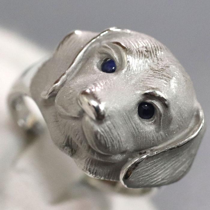 可愛い犬のモチーフリングその3